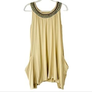 🌞CAbi Egyptian rounded beaded neck tunic